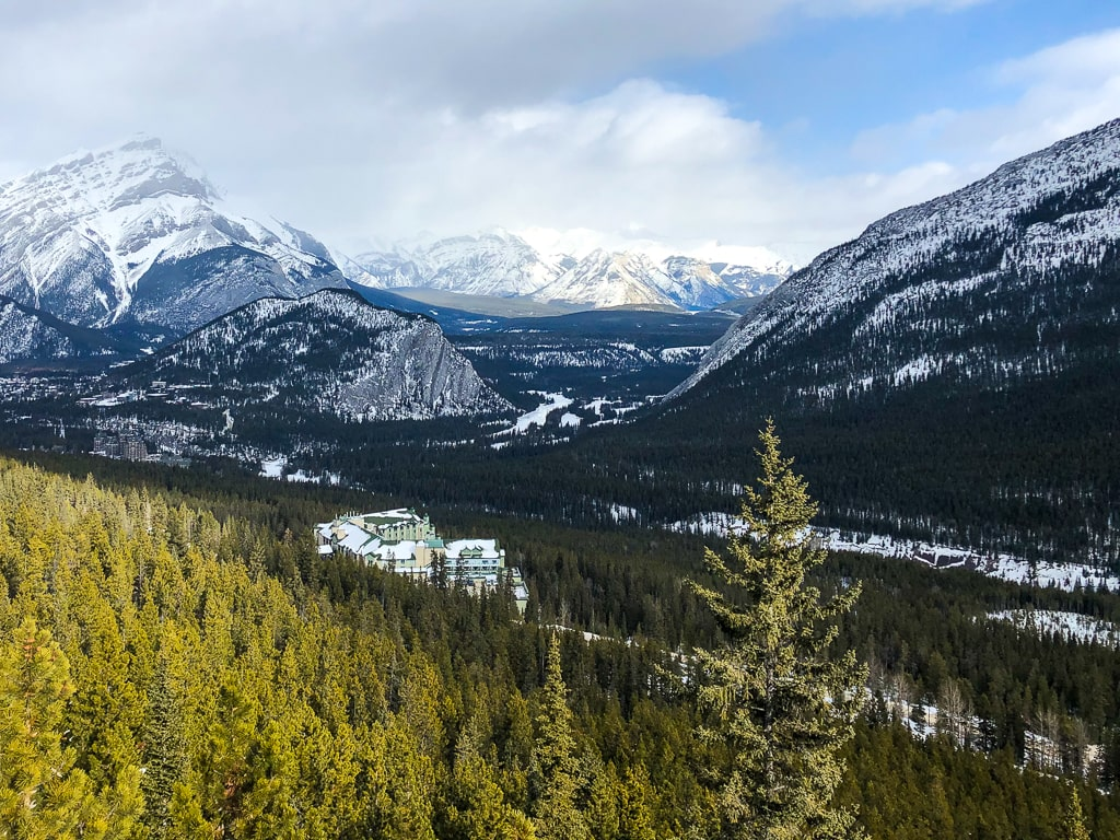 View of Fairmont Banff Springs from Gondola