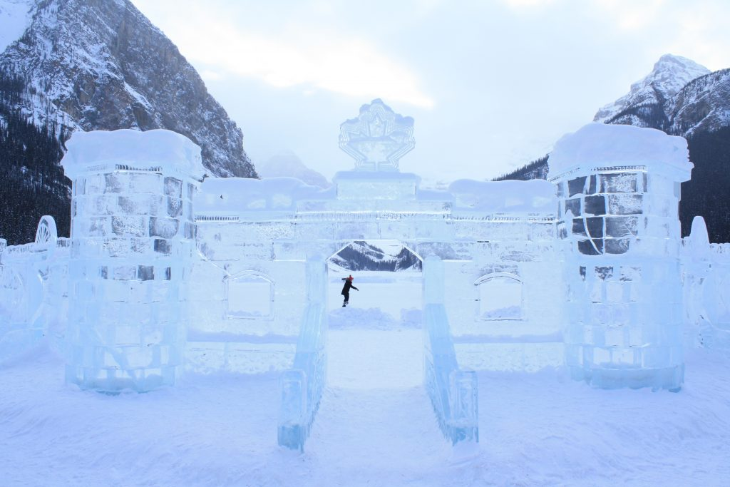 Ice Castle at Lake Louise in Banff
