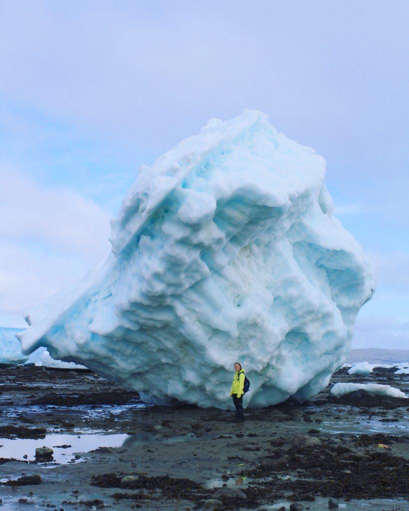 Huge iceberg stranded on Frobisher Bay, Iqaluit, Nunavut