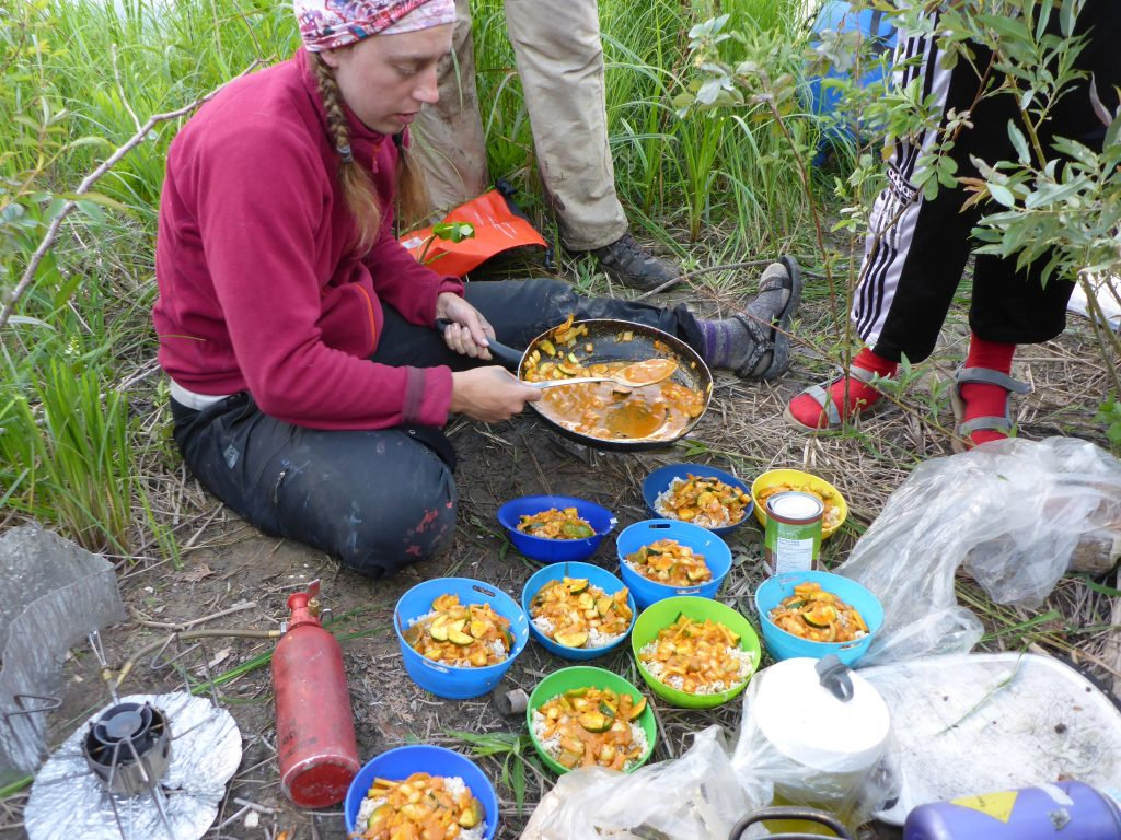 Cooking Dinner for my Group while working as an Outdoor Adventure Guide on the Missinaibi River