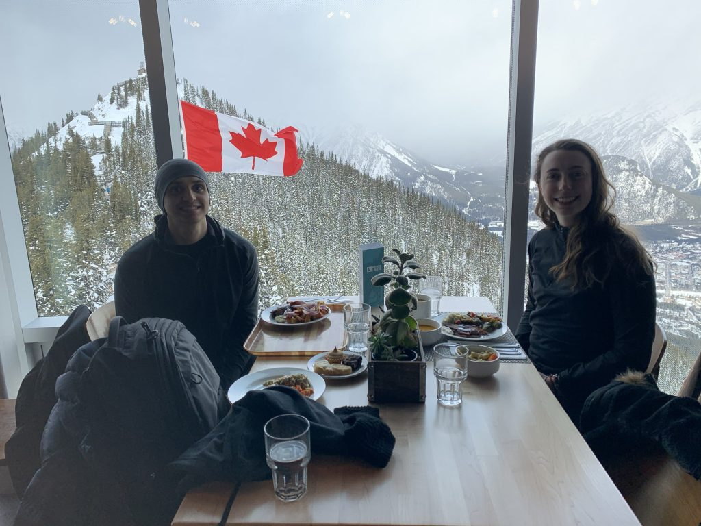Lunch from the Visitor Centre at Sulphur Mountain in Banff