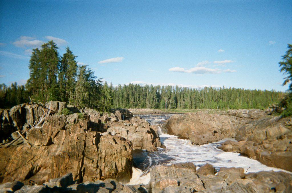 Thunderhouse Falls campsite on the Missinaibi River