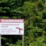 Sign at Thunderhouse Falls