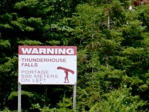 Sign at Thunderhouse Falls