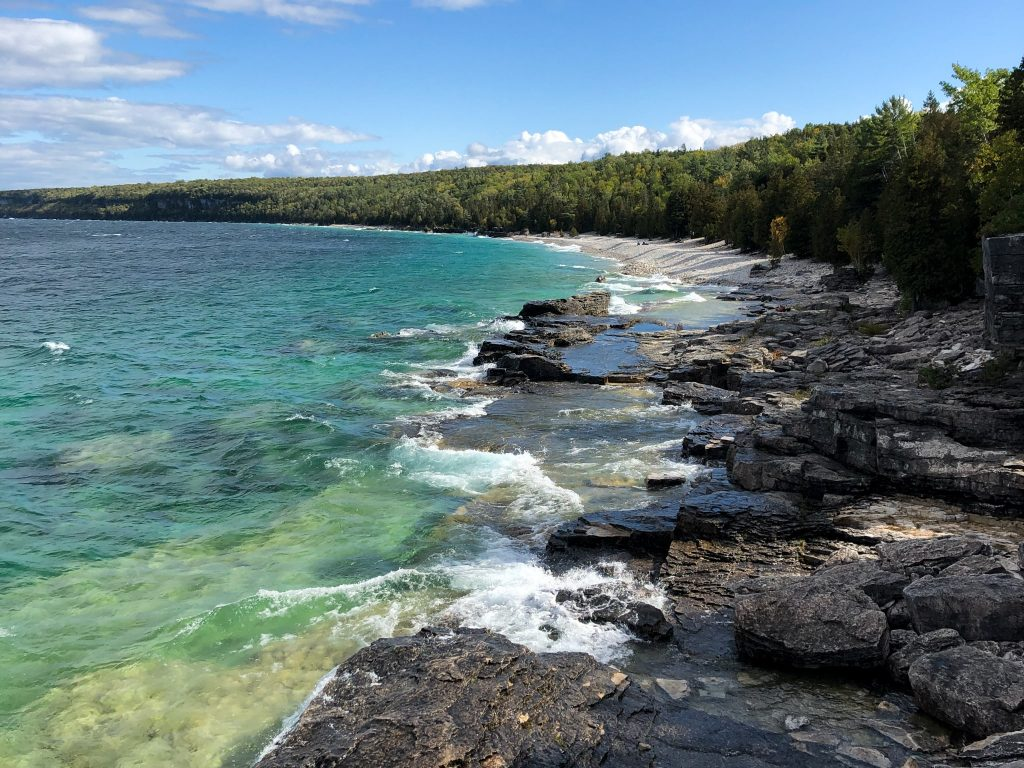 Rocky shoreline near Halfway Log Dump in Bruce Peninsula National Park