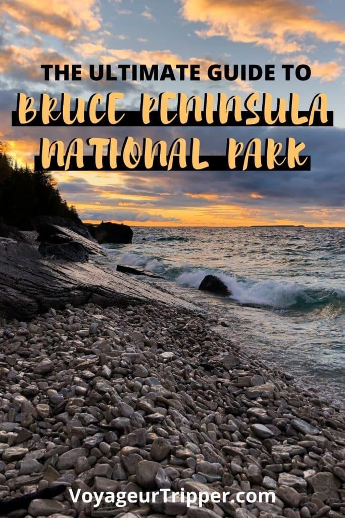 Bruce Peninsula Camping - Pin