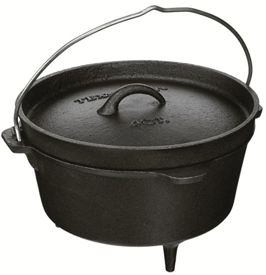 Texsport Cast Iron Dutch Oven 4 QT