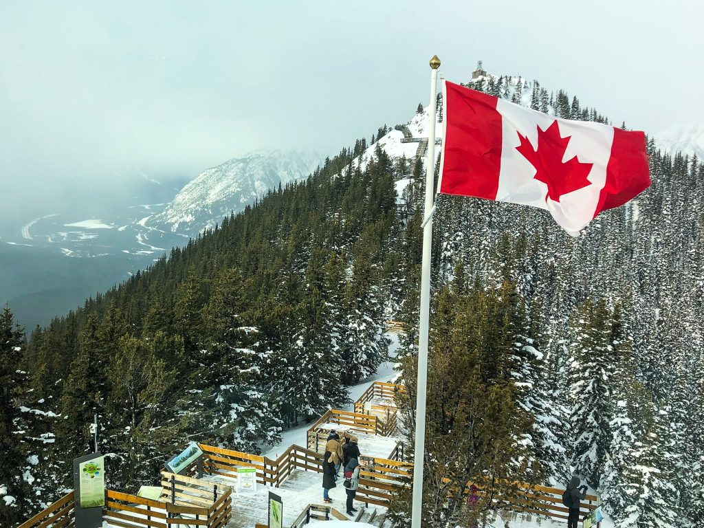 View from the top of Sulphur Mountain in Banff National Park