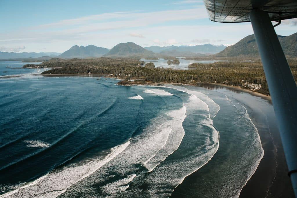 Tofino coastline, photographed from Tofino plane tour