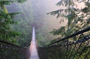 Lynn Canyon Suspension Bridge in Vancouver