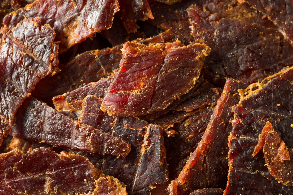 Beef jerky is another good hiking snack idea. You can make your own and buy it packaged.